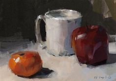 """Daily Paintworks - """"Fruit and Mug - Quick Study"""" by David Lloyd"""