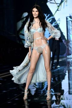 From bejeweled lingerie to life-sized wings, see all of the runway photos from this years Victoria's Secret Fashion Show.