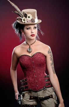 Vanilla Mocha Chocolate Steampunk Vegan Suede Leather Top Hat Heather, Love this! Arte Steampunk, Steampunk Couture, Steampunk Cosplay, Victorian Steampunk, Steampunk Clothing, Steampunk Fashion, Steampunk Corset, Lady Like, Steampunk Vetements