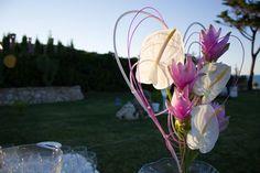 Decorazione floreale ai tavoli esterni