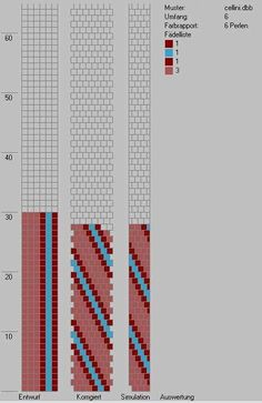 Chart for bead crochet rope. Try this with tubular brick stitch as well.