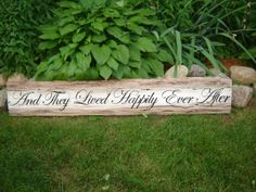 Hand painted barn board sign