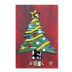 Noel Christmas Tree by Design Turnpike Graphic Art on Wrapped Canvas