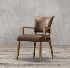 Adèle Leather Arm Chair