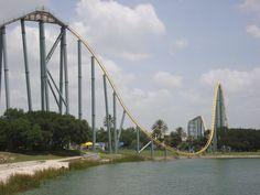 One of the best roller coasters I've been on; Steel Eel. Sea World, San Antonio