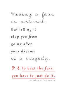 Leo Babauta – Fear Quote