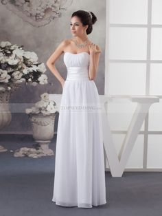 strapless chiffon wedding dress - best shapewear for wedding dress Check more at http://svesty.com/strapless-chiffon-wedding-dress-best-shapewear-for-wedding-dress/