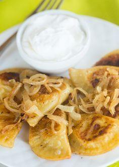 Homemade Potato and Cheese Pierogi | browneyedbaker.com #recipe #Lent #Polish