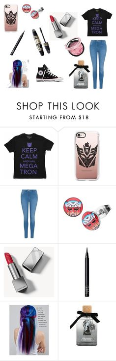 """transformers"" by raplover-5am ❤ liked on Polyvore featuring Casetify, George, Target, Burberry, NARS Cosmetics, Max Factor, Manic Panic NYC, Disney and Converse"