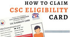 How to Claim Eligibility Card Foreign Service Officer, Civil Service, Certificate Of Eligibility, Republic Services, Attendance Sheet, Records Management, Pencil Test, Name Change, Data Processing
