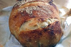 DUTCH OVEN BREAD --- 1 package active dry yeast 1 1/2 cups warm water 1 1/2 teaspoons salt 3 cups bread flour or all-purpose flour and a bit more for dusting the bread after rising.