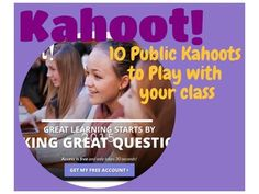 Kahoot • This resource contains links to 10 – just for fun Kahoots that my students have enjoyed playing. • Use these games to get to know your students at the beginning of the semester or for having fun for a few minutes at the end of the day.