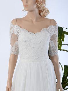 off shoulder wedding jacket lace bolero WJ031