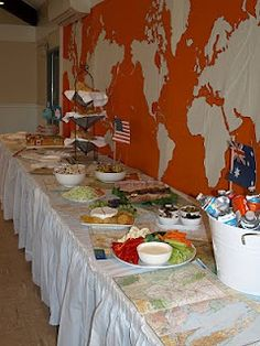 1000 ideas about welcome home parties on pinterest home for Around the world party decoration ideas