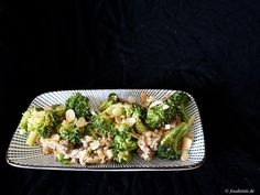 Recipe: Seared Broccoli with Couscous, toasted almonds and ground beef (Foodistini.de)
