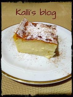 Greek Sweets, Greek Desserts, Pita Recipes, Greek Recipes, Greek Pastries, The Kitchen Food Network, Custard Cake, Chocolate Sweets, Sweet Pie