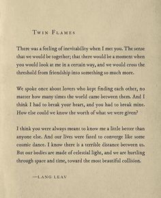 -LANG LEAV • Twin Flames