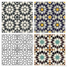 Illustration about Seamless mosaic Moroccan tile patterns. Illustration of repeat, morocco, geometric - 18396142 Islamic Art Pattern, Pattern Art, Mosaic Patterns, Print Patterns, Motifs Islamiques, Motif Oriental, Islamic Tiles, Moroccan Tiles, Moroccan Lanterns