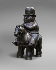 Fernando Botero, Man on Horseback, 1984