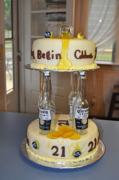 21st birthday beer cake!!! -
