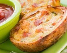 Pommes de terre farcies au jambon (facile, rapide) - Une recette CuisineAZ