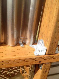 corrugated metal fence DIY                              …