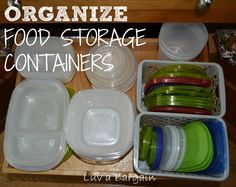 Organize Food Storage Containers- OMG do I need this.  We are constantly in a battle, my containers and me!!!