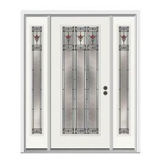 JELD-WEN Arum Full Lite Primed Steel Entry Door with 12 in. Sidelites-H24858 at The Home Depot