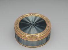 IMAGES GOLD EIGHTEENTH CENTURY  BOXES   ... Le Bastier ,French (Paris)-18th century (1773-1774),Gold, enamel