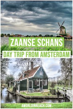 Wondering what the best day trips from Amsterdam are? Look no further than this post, a comprehensive round-up of traveler's favorite day trips from Amsterdam! Take a day trip from Amsterdam to Zaanse Schans to see what life was historically like in Holland. See windmills, tulips, Dutch clogs, a cheese factory, and more! / day trips from Amsterdam / visit Zaanse Schans from Amsterdam / day trip to Zaanse Schans / things to do in Amsterdam / things to do in Zaanse Schans / things to do in the…