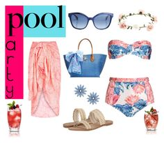 """""""Weekend Pool Party"""" by asteroid467 ❤ liked on Polyvore featuring We Are Handsome, Fendi, Accessorize, Lilly Pulitzer, Lucky Brand, R.J. Graziano and poolparty"""