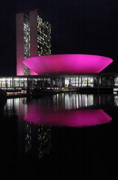 National Congress, Brasilia, DF campanha prevençao cancer da mama