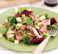 Seared beef, lentil and beetroot salad | Australian Healthy Food Guide