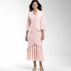 Scallop Hem Cloque Jacket Dress-Petal Pink | Shop fashion, apparel| Kaboodle