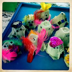 Beautiful egg carton creatures ≈≈