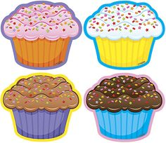 Cupcakes Mini Accents Variety Pack - for birthday charts - on a cake plate labeled with the month Birthday Display, Birthday Wall, Birthday Parties, Birthday Charts, Paper Owls, Cupcake Art, Rock Painting Designs, Clip Art, Picasa Web Albums