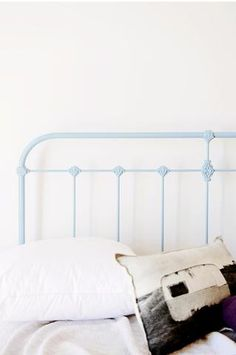 Inspired by old frames found in shearing sheds in outback Australia, our original and classically-styled Scout wrought Iron Bed. Cast Iron Bed.