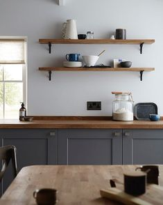 "225 Likes, 5 Comments - Howdens (@howdensjoinery) on Instagram: ""Our beautiful slate grey Fairford range offers the perfect look for your shaker style kitchen. Be…"""