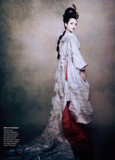 Memoirs of a Geisha (2005) -Sayuri (Ziyi Zang) in Vogue Magazine