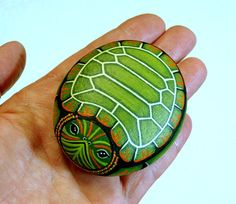 HURRICANE RELIEF Snapping Turtle gift for gardener by RockArtiste