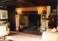 You are interested in: Inglenook fireplace photos. Fireplace Fender, Fireplace Doors, Inglenook Fireplace, Fireplace Seating, Home Fireplace, Fireplace Design, Fireplaces, Fireplace Ideas, Cottage Design