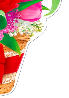 НУШ. Ілюстративний матеріал для оформлення класу «Весняний кошик з тюльпанами». Paper Flowers Craft, Flower Crafts, Templates, Ideas, Stencils, Vorlage, Thoughts, Models