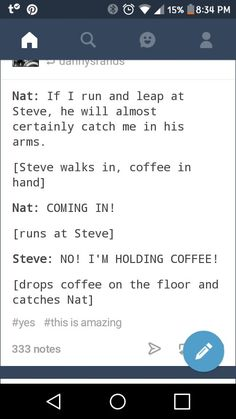 Steve would never let Nat fall and hurt herself though I bet she's like a cat and always lands in her feet, but Steve doesn't know that and she'd like to keep it that way!