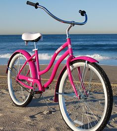 Pink Beach Cruiser.  Wonder if I could get a pink baby-seat for the Wave? ;)