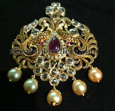 Jewellery Designs: Uncut Heavy Fancy Locket