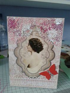 Hunkydory antique chic card.