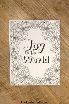 Joy to the World Christmas Quote Coloring page perfect for the holiday season. Christmas Quotes, Christmas Crafts, Christmas Decorations, Quote Coloring Pages, Watch Christmas Movies, Joy To The World, Adult Coloring, Words, Holiday