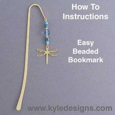 Easy Beaded Bookmarks DIY Crafts Project: Do-It-Yourself Beaded Shepherd Hook Bookmark