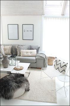 Grey Sofa White Living Room