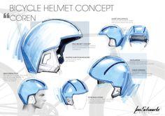 Helmet Concept (PISA Plastics) by Lois Schwartz, via Behance